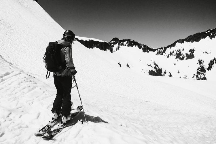 Ello posting. real life skiing - alexgaynor | ello