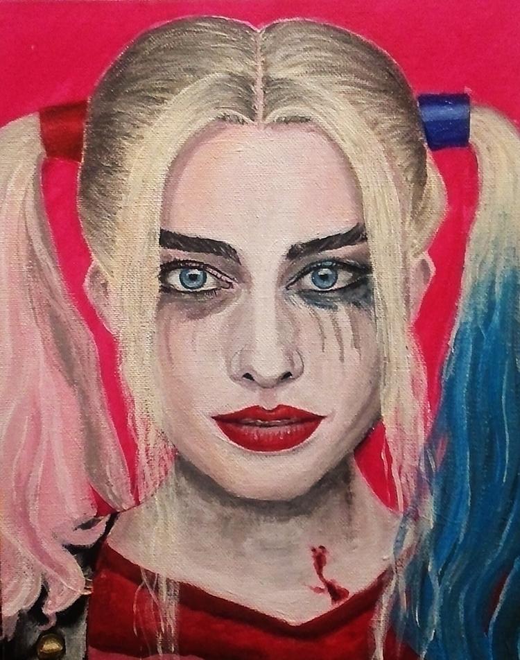 Harley Quinn - Acrylic Painting - alister-owl | ello