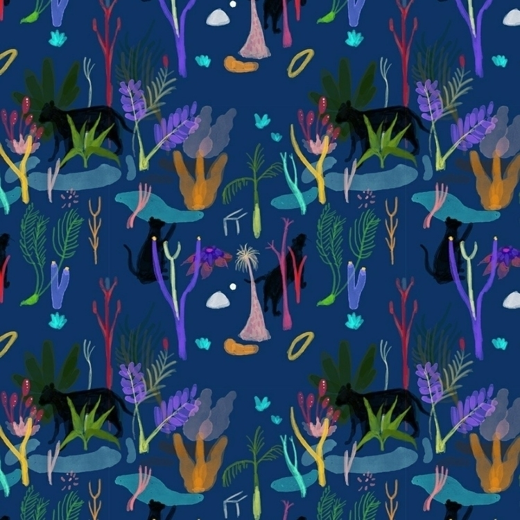 tiger pattern, 2017 - illustration - esdanielbarreto   ello
