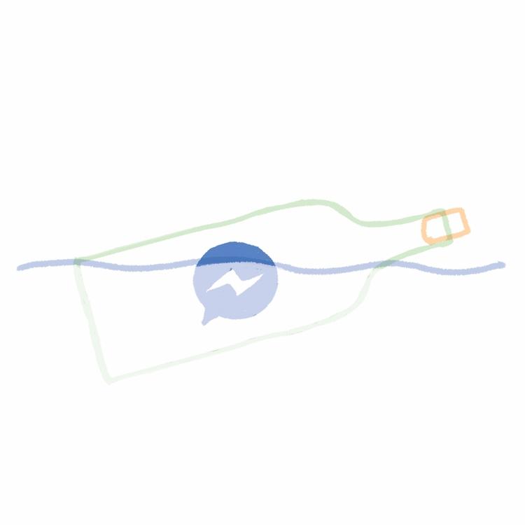 messenger bottle - 2017 - stefanvanzoggel | ello