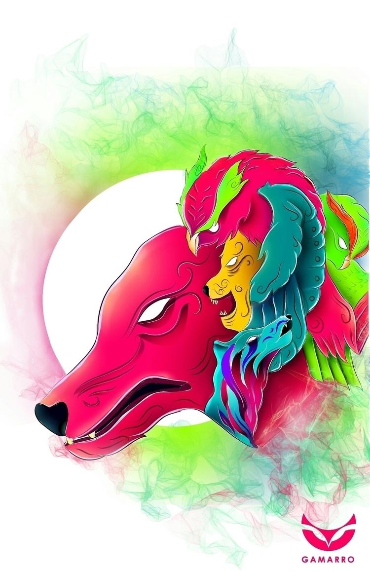 wildcolors, illustration, gamarrotwin - gamarrotwin | ello
