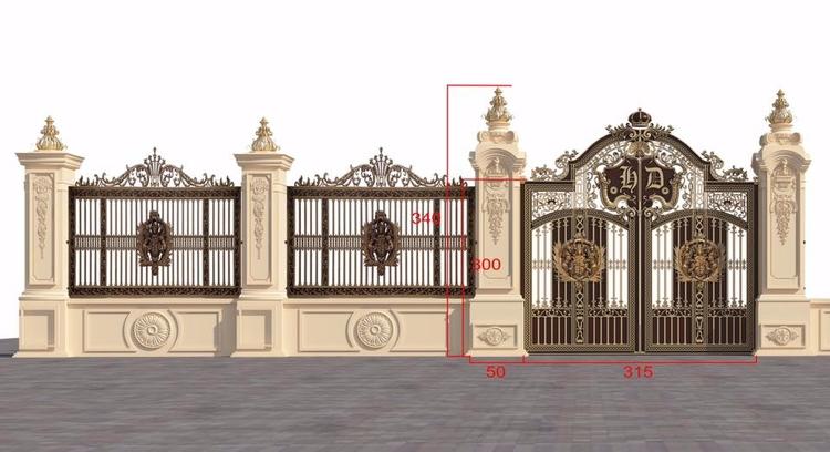 Bộ sưu tập cổng nhôm đúc LCA - khonggiandep   ello