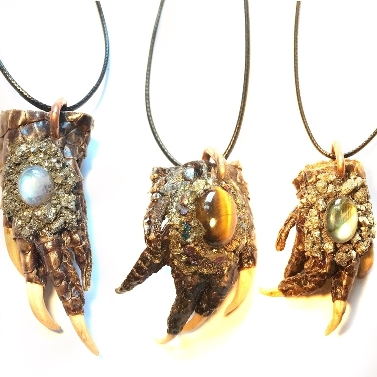 Black Caimian Foot pendants moo - hgtandbone | ello