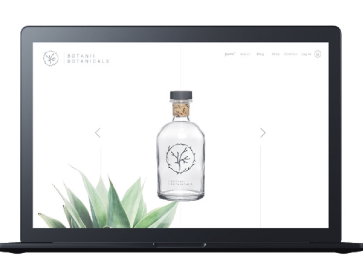 Web design UI Botanii Botanical - broodmethod | ello