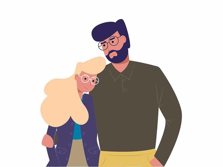 Lovely couple - Renderforest, animation - renderforest | ello