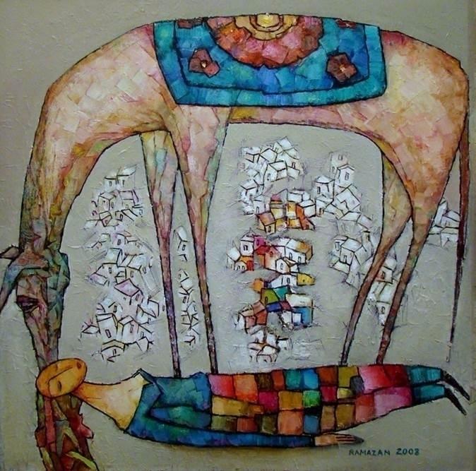 Ramazan Useinov, Lying, 2008, o - n2ngallery_uae   ello