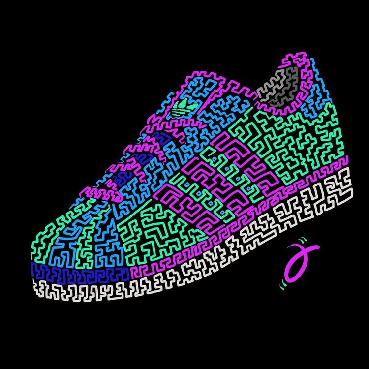 Adidas Superstar. Neon Squiggle - furmie | ello