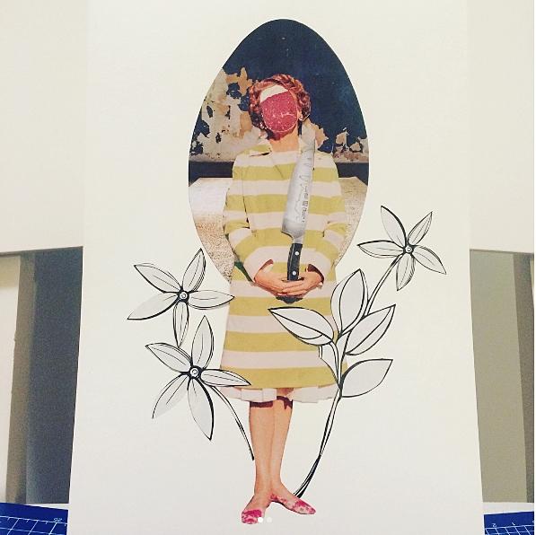 butcher - collage, handmade - amanda   ello