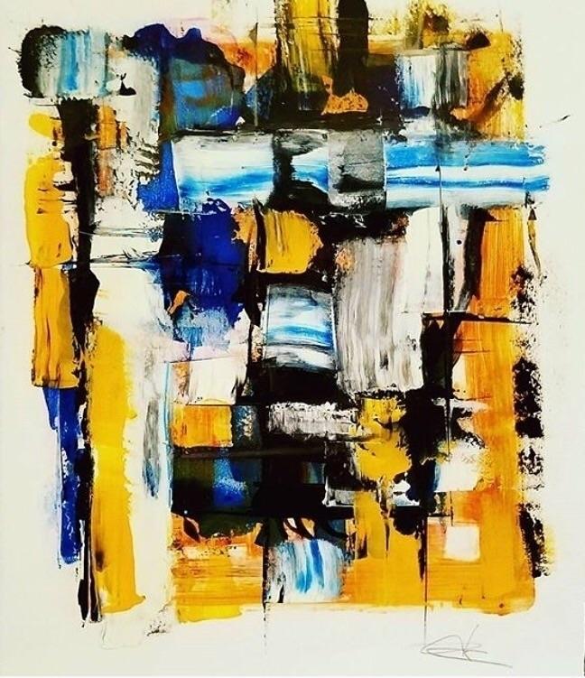 Reposting oil paper 11x15 - artoftheday - bitfactory | ello