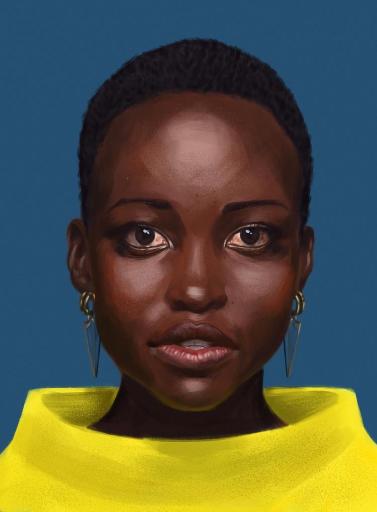 Lupita portrait fav - digitalpainting - mrbraintree | ello