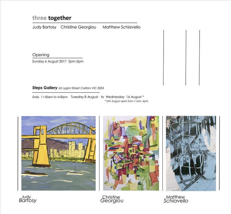 upcoming exhibition, Melbourne - matthewschiavello | ello