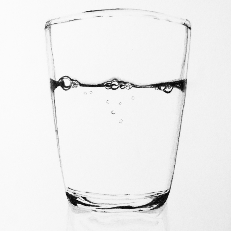 Water glass study drawing serie - heaney_art_design | ello