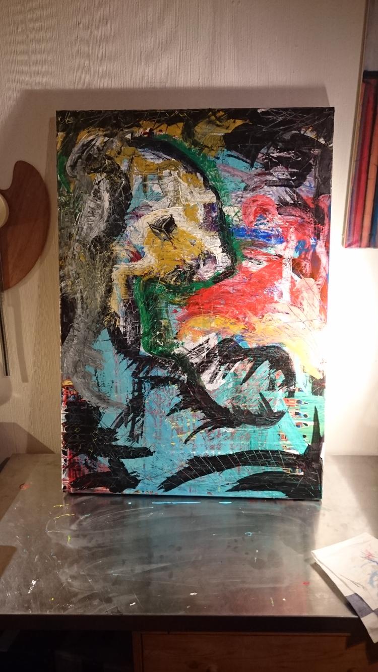 abstract acryl canavas- unfinis - stokholm | ello