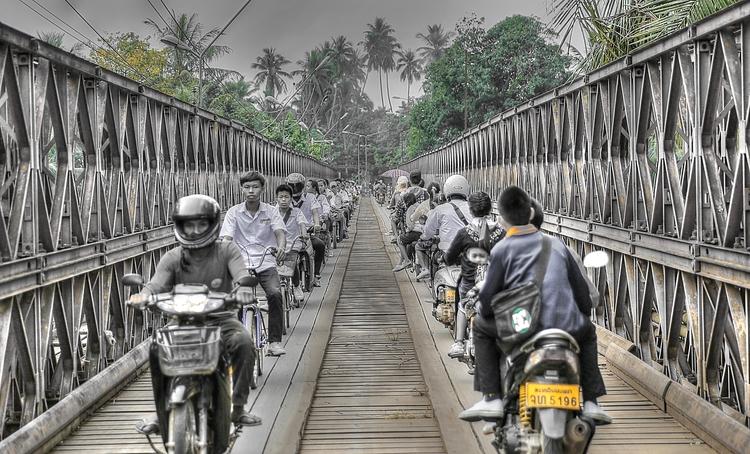 Bike Bridge, Luang Prabang, Lao - reyedson | ello