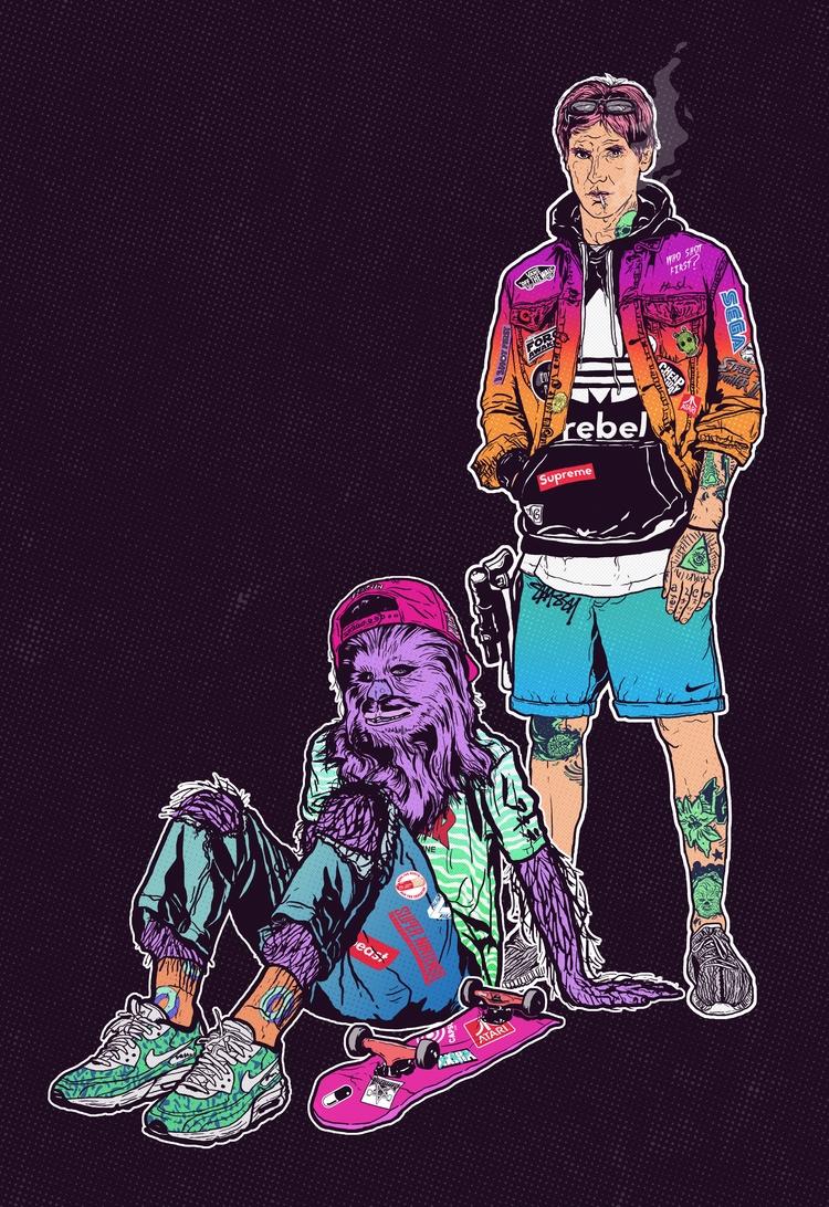 - 1 9 7 - illustration, justblack - justblack | ello