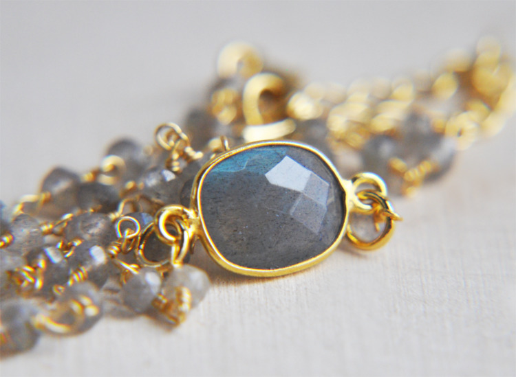 labradorite, crystals, choker - fawinginlove | ello