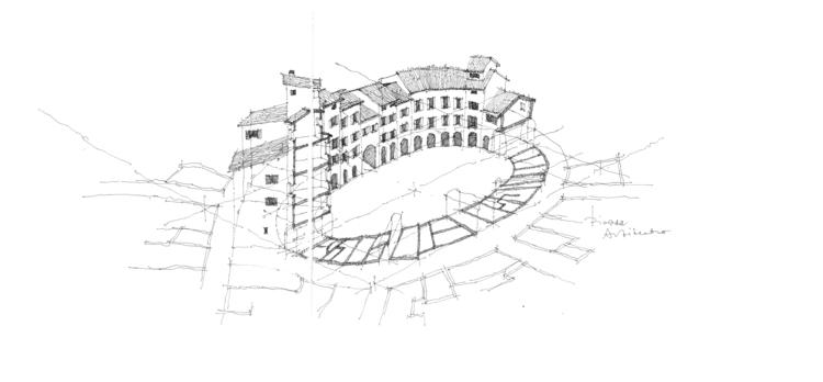 Piazza Anfiteatro, Lucca - drawing - simonrott   ello