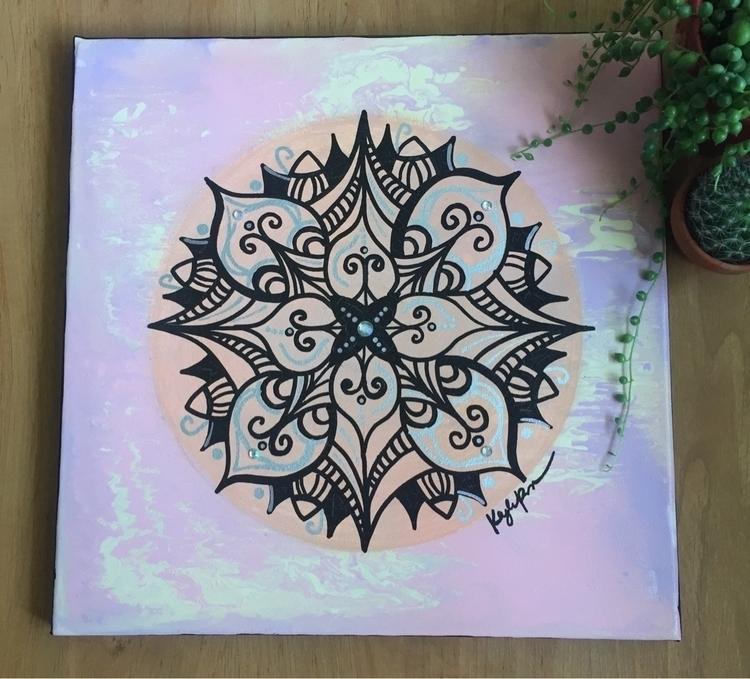 Mandala Love ••• • 12x12 acryli - artbykaylabraden | ello