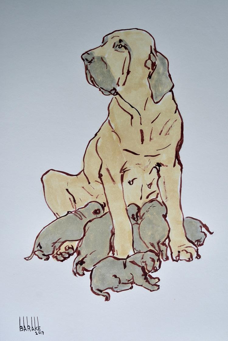 BRAZILIAN FILA MATERNITY, INK P - barakesculptor | ello