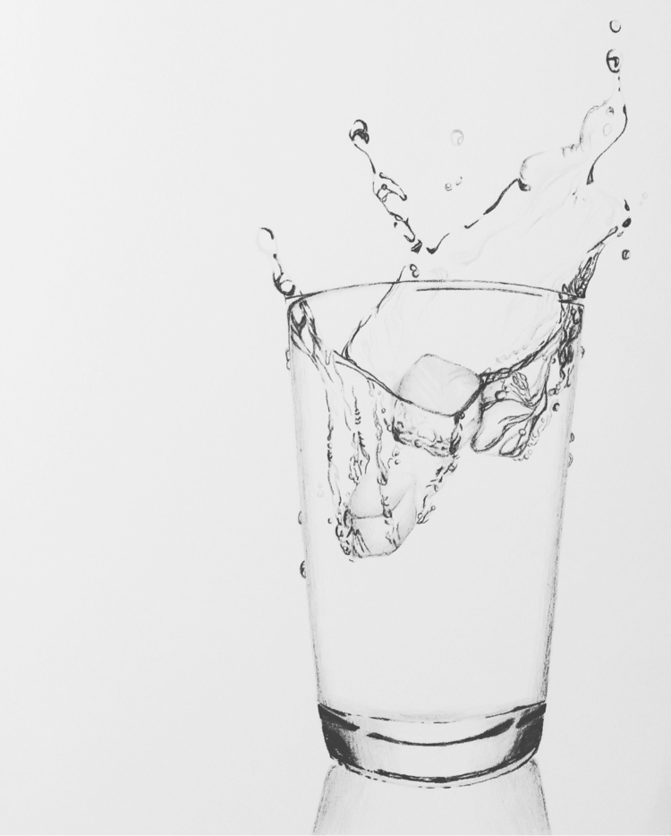 drawing water glass series - art - heaney_art_design | ello