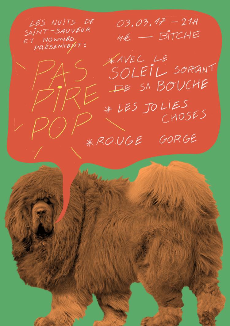 Poster concert Nantes Pas Pire  - molonom | ello