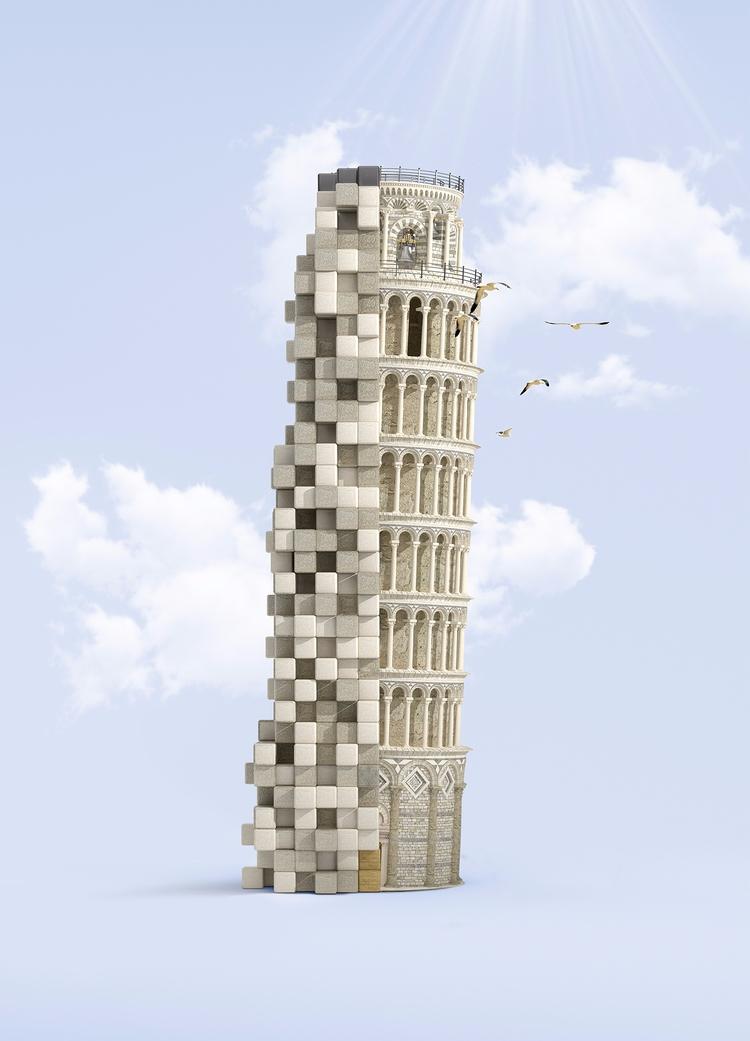 Pixelated Landmarks - Sony - jvgstudio | ello