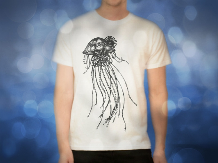 (original design - Jellyfish, ScreenPrint - akzynth | ello