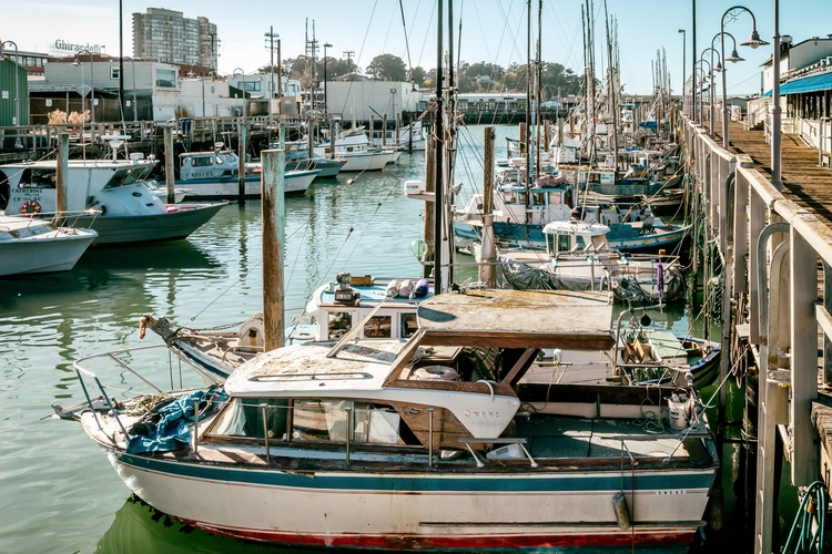 Docked Wharf Boats docked pier  - mattgharvey | ello