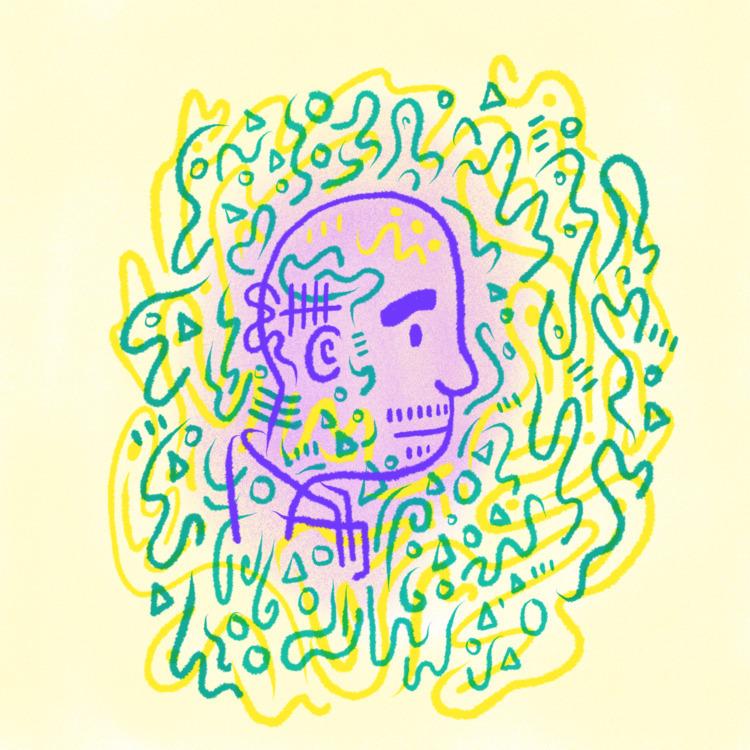Stoic Man - illustration, illustrator - heybop   ello