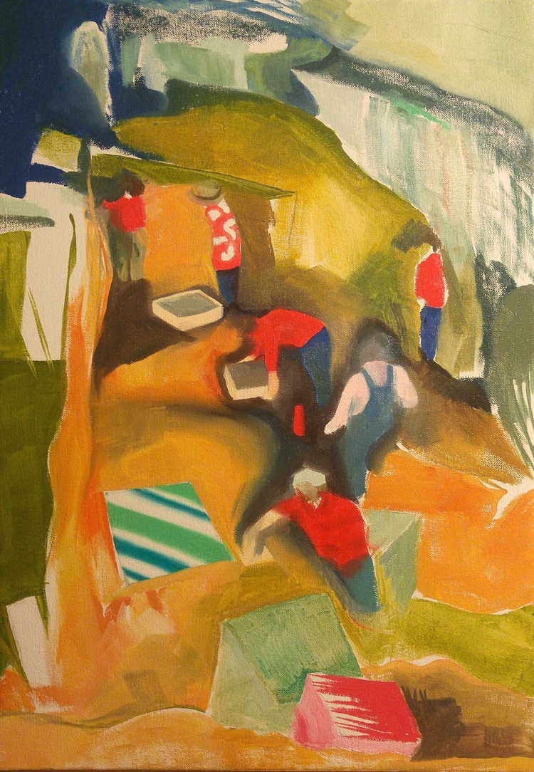 Archaeologists Oil canvas 2017 - peytonrack | ello