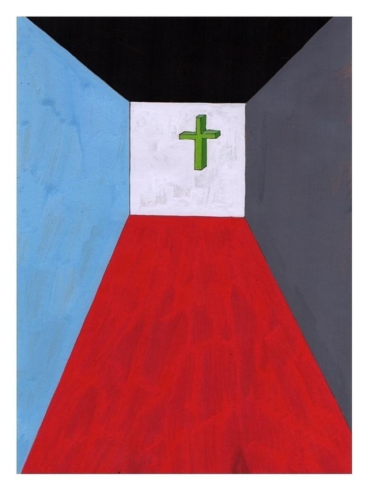 Room crucifix. 210x148mm, 2014 - carpmatthew   ello