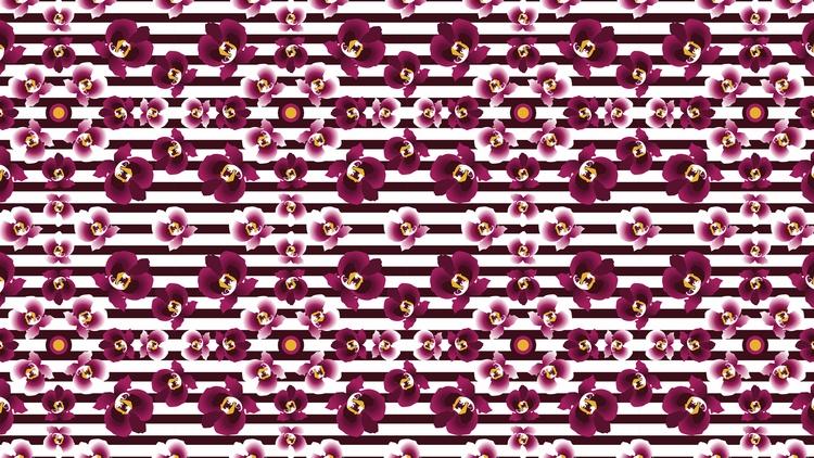 Orchids purple, seamless repeat - prunelka | ello