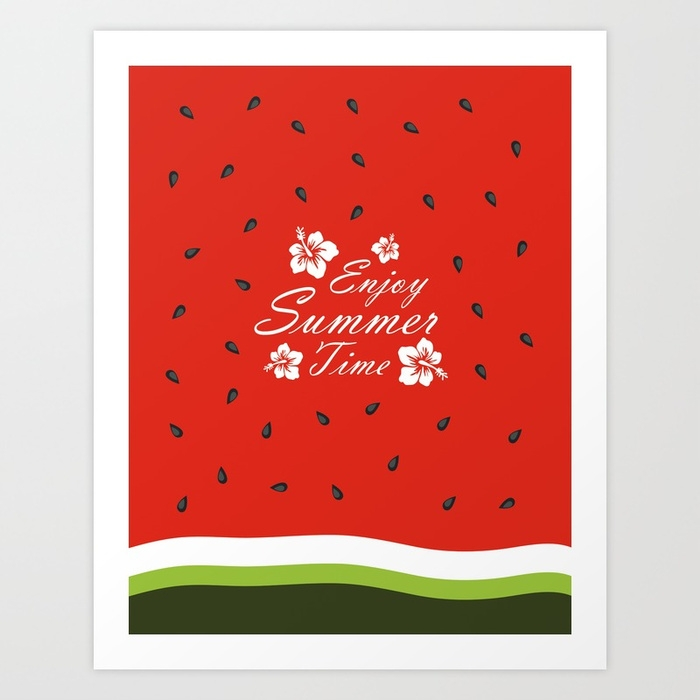watermelon, red, seeds, summer - miideegrafiche | ello