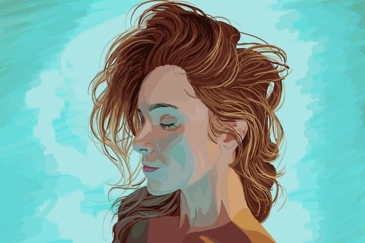 art, artist, portrait, portraitdrawing - sketch_study | ello