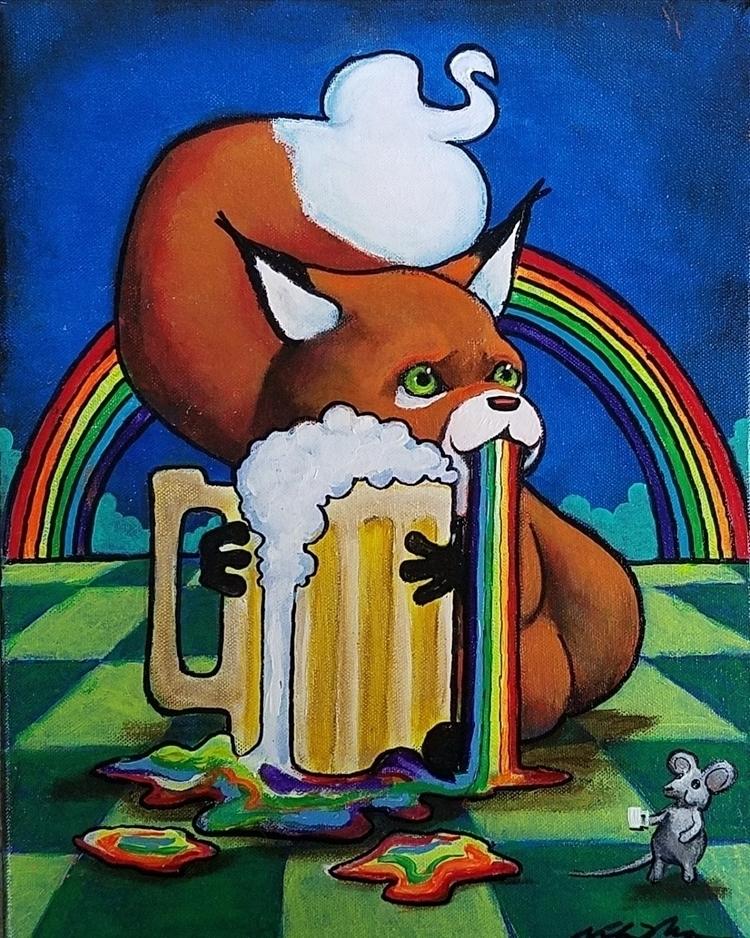 fox, rainbow, vodkabaconstudios - vodkabaconstudios | ello