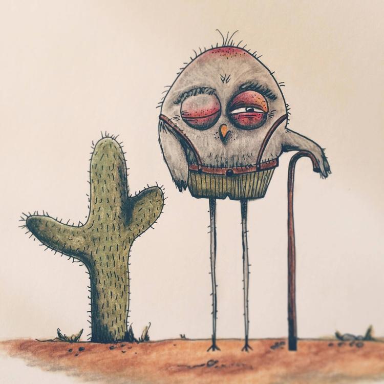 Bird Cactus 2017 Femke Muntz - illustration - femkemuntz | ello