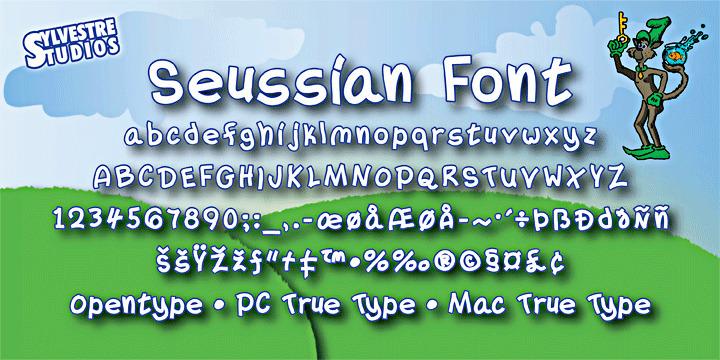 Seussian (Opentype/Truetype/Web - micksylvestre | ello