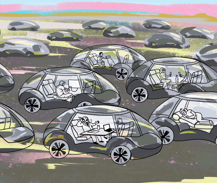 'Driverless Cars - art, arte, artinfo - ciaran_illustration | ello