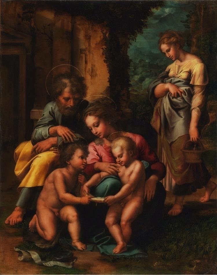 Holy Family Giulio Romano 1520 - bitfactory | ello