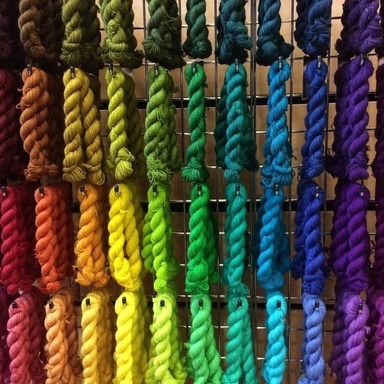 rainbow colourful yarns Fibre E - arnolds-attic | ello