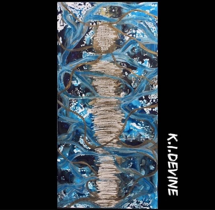 Head water dive deep - waxart, acrylic - kidevine | ello