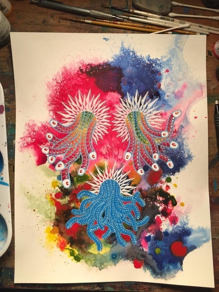 photo, sunday, worm, painting - nathanawoodart   ello
