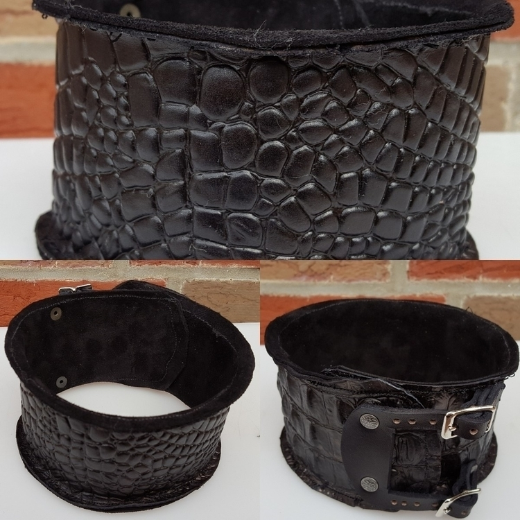 Full leather collar inspired Mo - wanderinglost | ello