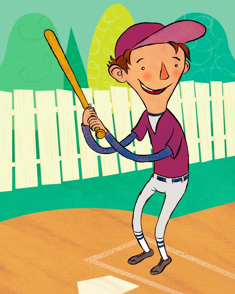 kidlitart, baseball, digitalillustration - jseckman | ello