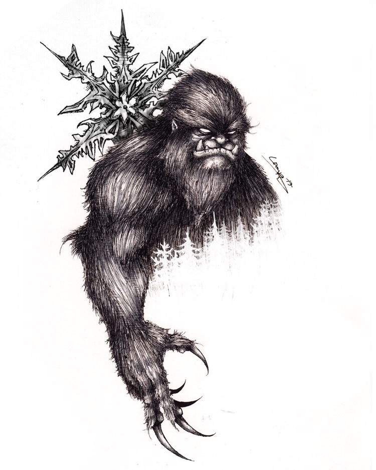 Yeti tattoo commission :snowman - tlamph | ello