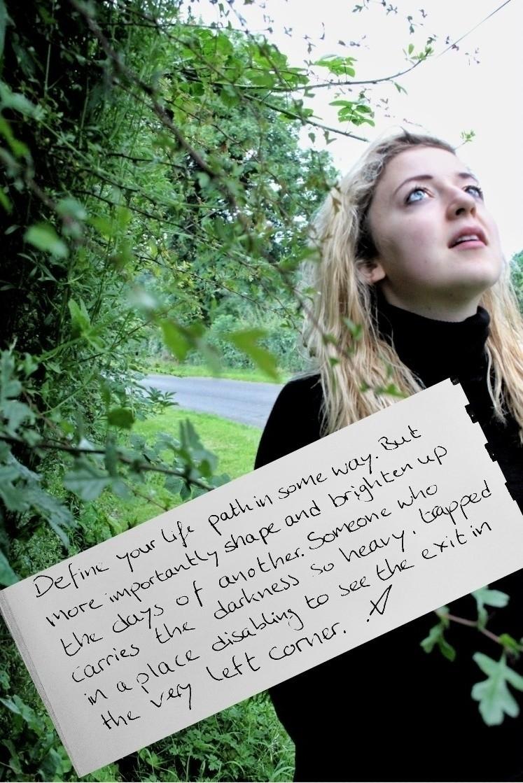 Lighten path - poem, vispo, writing - victoriainthewoods | ello