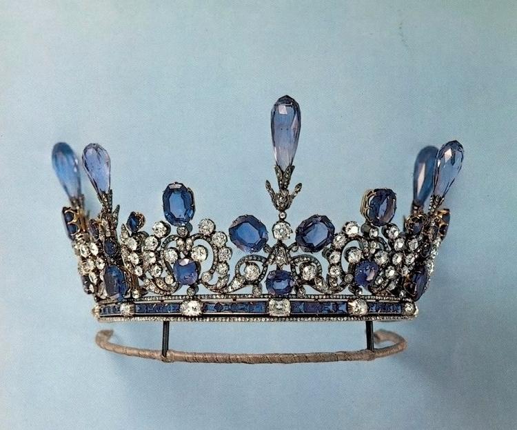 Sapphire diamond tiara, propert - modernism_is_crap | ello