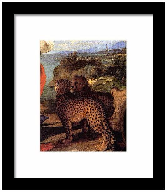 Titian Bacchus Ariadne Framed P - pixbreak | ello