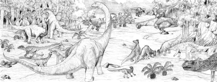 Jurassic Gatefold Pencil paper - splendidhand | ello