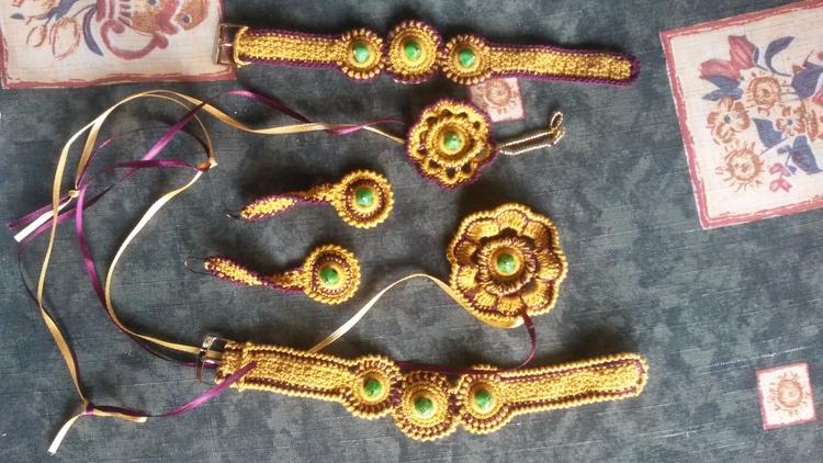 Crocheted armlets, pendants, ea - hamsiel | ello